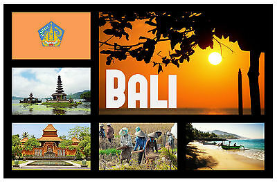 Bali, Indonesia - Souvenir Novelty Fridge Magnet - Sights - Gift / Xmas - New