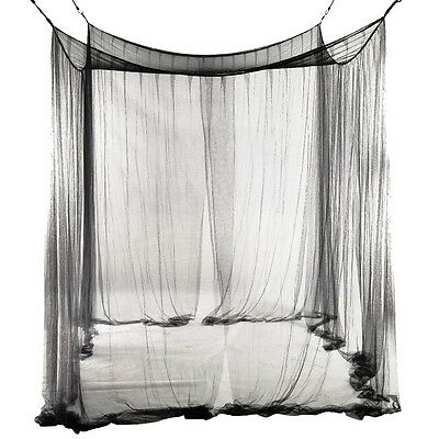 4-Corner Bed Netting Canopy Mosquito Net for Queen F6