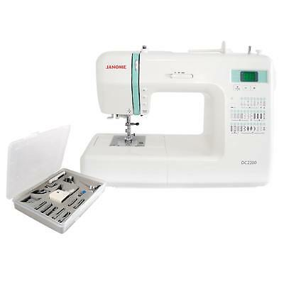 Janome DC2200 Computerised Sewing Machine + Walking Foot 1/4 inch Quilting Feet