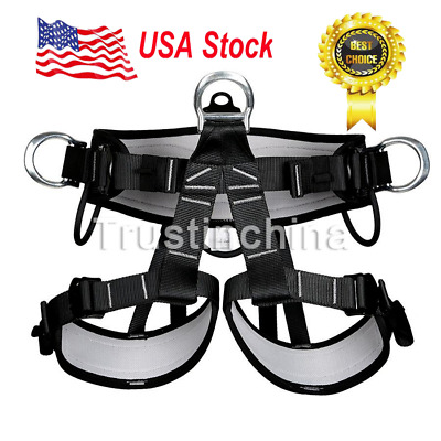 Pro Tree Carving Fall Protection Rock Climbing Equip Gear Rappelling Harness US