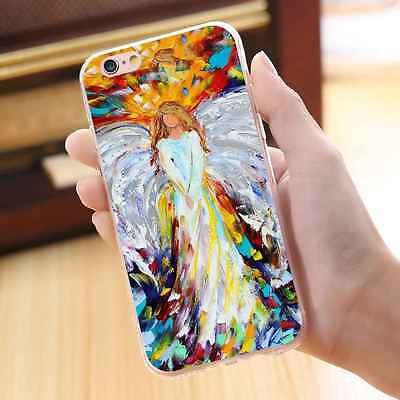 Oil Angel Soft TPU Silicone Gel Back Case Rubber Cover For iPhone Samsung Huawei