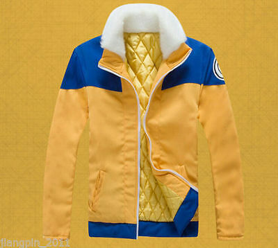 Naruto Uzumaki Naruto Cosplay Costume Thick Coat Hoodie Jacket Daily Wear VFSDAS