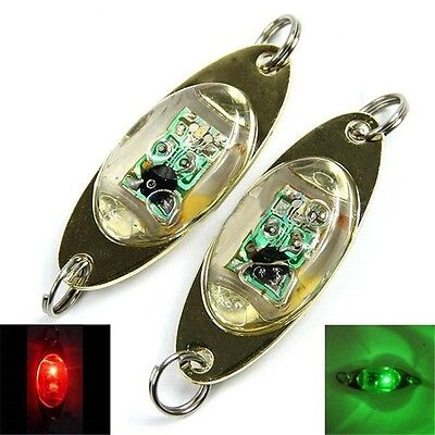 LED Deep Drop Underwater Eye Shape Fishing Squid Fish Lure Light Flashing Lamp