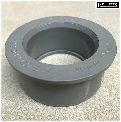 62mm x 40mm 62mm x 43mm Solvent Weld Glued Boss Adapter Fits Polypipe Floplast