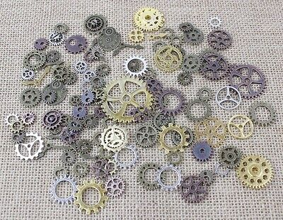 100g Steampunk Cyberpunk Jewellery Cogs and Gears Watch Parts [BUY 3 GET 1 FREE]