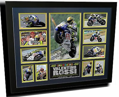 Valentino Rossi Moto Gp Yamaha Signed Limited Edition Framed Memorabilia