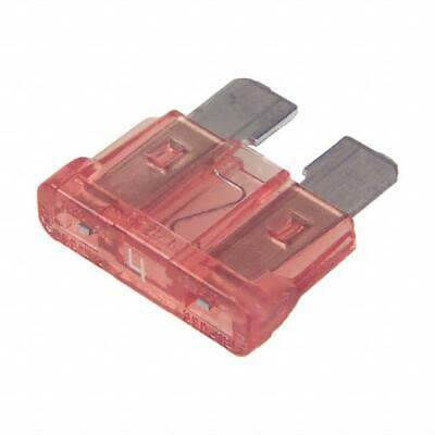 Car Spare 10x Standard Blade Fuses 4 Amp For Marine & Automotive