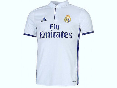 100% Authentic Real Madrid 2016 2017 Home Football Jersey Shirt