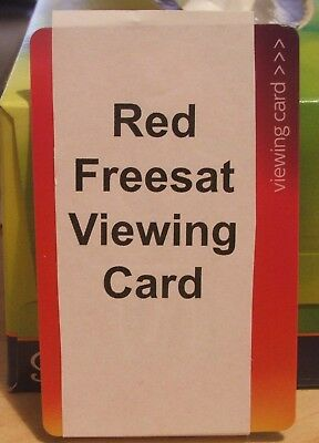 Activated Red Latest Freesat Viewing Card Plus And HD