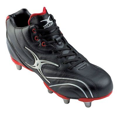 GILBERT SideStep Zenon Mid Cut Hard Toe Junior 6 Stud Rugby Boots - UK 4
