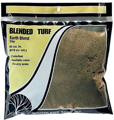 WOODLAND SCENICS T50 - Blended Turf - Earth Blend  NEW #50