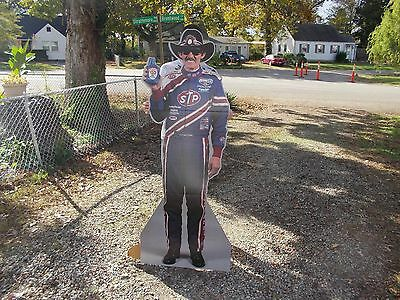 original unreleased Richard Petty holding stp standup sign printing error