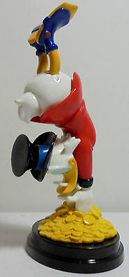 DISNEY DE AGOSTINI ITALY SCROOGE McDUCK DIVING 6.5'' DETAILED PVC FIGURE + STAND
