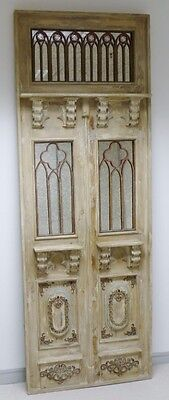 """Superb Very Large Wooden Vintage Style """"Door"""" Mirror/Wall Hanging. H223cm. New"""