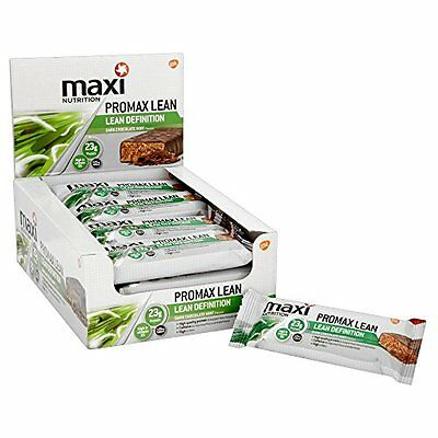 Maximuscle Promax Lean 60 g Dark Choc Mint Weight Loss and Definition Bars - of