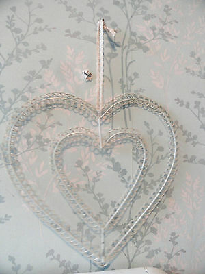 Christmas Heart Card Holder Metal wall Hanging Decoration shabby chic