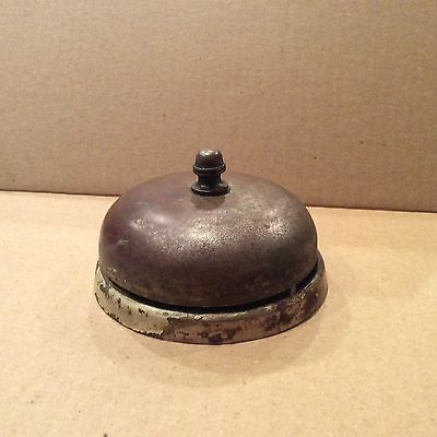 Antique Brass Mechanical Doorbell c1885 by Sargent, Missing Push Button And Rod