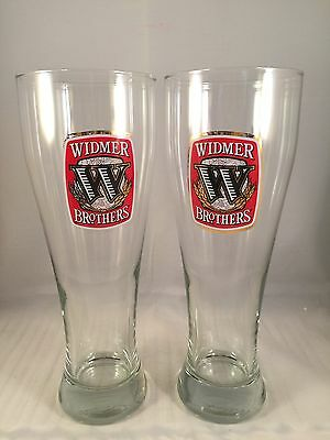 Set of 2 Widmer Brothers Pilsner Beer Glasses 20oz
