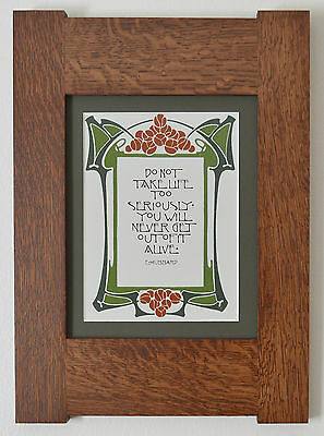 Mission Style Bungalow Quartersawn Oak Arts & Crafts Framed Print- Life 2
