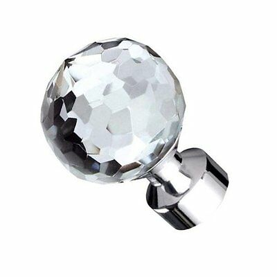 Speedy Products 28mm Poles Apart Crystal Finial Pk2 Chrome