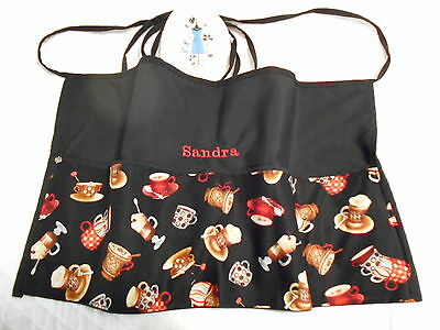 New Coffee Break Server 3 POCKET WAITRESS WAIST APRON W/WO Name Lady Pizazz