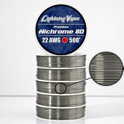 22 Gauge AWG Nichrome 80 Wire 500' Length - N80 Wire 22g GA 0.64 mm 500 ft