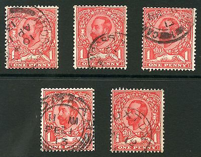 GB KG5 DOWNEY HEADS FINE USED CDS SG336 FROM BOOKLETS 5 stamps cv £150+...L1
