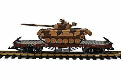 Zenner Flat wagon with Solid T 80 the Soviet Union, G Scale
