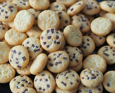 Dollhouse Miniature 20 Mini Chocolate Chip Cookies Bakery Food Supply Sweet Deco