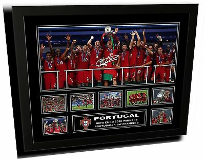 Portugal Euro 2016 Winners Ronaldo Signed Limited Edition Framed Memorabilia