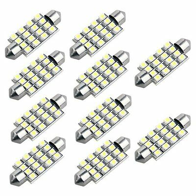 10X 42mm 3528 SMD 16 LED Interior Festoon Bulb Lamp BT
