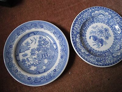 2 small spode mini display plates The spode Blue Room collection Georgian Series
