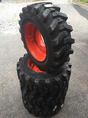 4-10-16.5 HD Skid Steer Tires/Wheels/Rims for Bobcat - Camso SKS532 - HEAVY DUTY