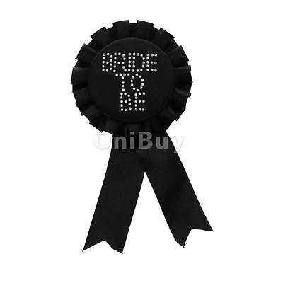 Hen Party Bride To Be Rosette Insignes Bridal Wedding Party Night Out Noir