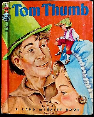 TOM THUMB ~ Vintage 1960's Children's Rand McNally Tip Top Elf Book
