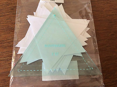 """EPP 3"""" Equilateral Triangle template, papers or both. Sample of block"""