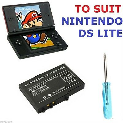 1600mAh Nintendo DS Lite Replacement Battery With Screwdriver Opening Tool NDSL