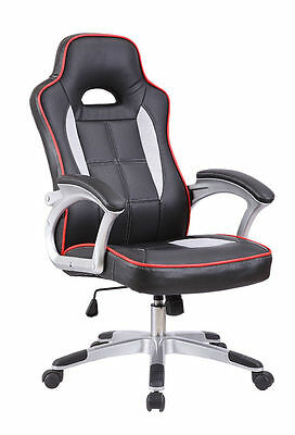 New AERO Executive PU Faux Leather Office Computer Racing Chair free postage