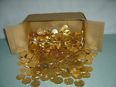 50 Golden $1 Slot Machine Tokens - Newly Minted Dollar Size