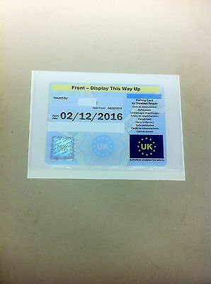 Holds A Disability Badge Large Parking Permit Holder (L) Size 180Mm X 130Mm