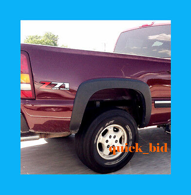 99-06 Chevy Silverado Gmc Sierra Fender Flares Smooth Finish - Set Of 4 Pcs