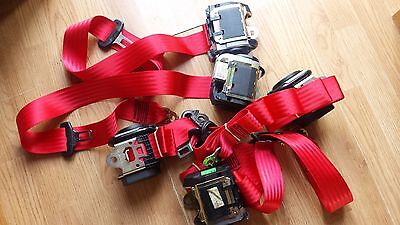 Audi A4/S4/RS4 1997-2001 full set of custom red seat belts, outright or exchange