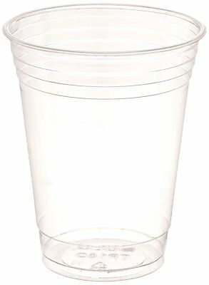 Clear Plastic Party Cold Cups 16 oz 100 pack Single Use