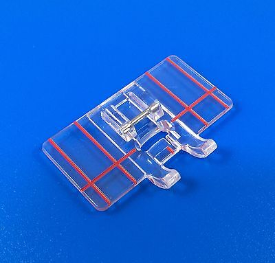 Border Guide Foot To Fit Janome Brother Silver New Singer Sewing Machine Feet