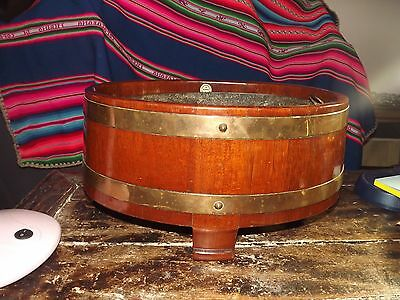 Antique Oval Mahogany Wine Cooler Log Bin With Tin Linner R A Lister Dursley