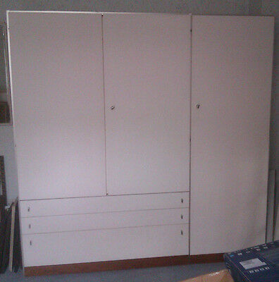 Vintage classic 1960s G Plan white bedroom wardrobe