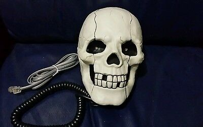 Skull Telephone Corded for Halloween Scare Parties or Gift-Rare