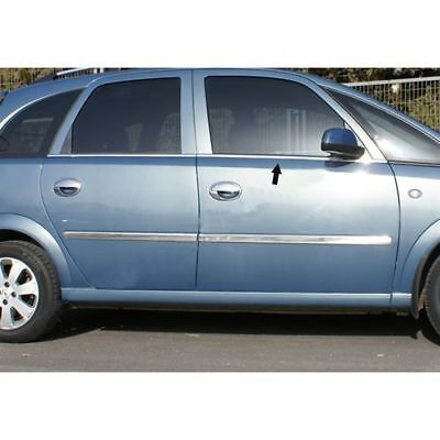 2003-2011 Vauxhall Opel MERIVA A Chrome Windows Frame Trim Cover 4pcs S.STEEL