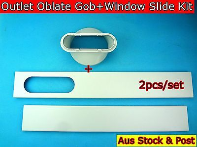 Portable air conditioner Spare Parts Outlet oblate gob+Window Kit 2pc/set (15cm)