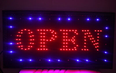 New Bright Animated Motion Running Neon LED Open Sign For Business Store Shop